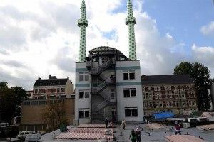 Die Minarette der Centrum-Moschee in Hamburg