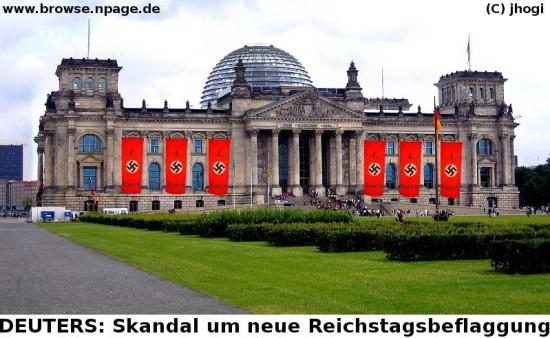 Reichstags -Beflaggung 4.Reich