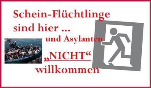 Fluechtlinge Asylanten sind nicht willkommen