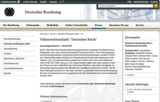 Völkerrechtssubjekt - Deutsches Reich