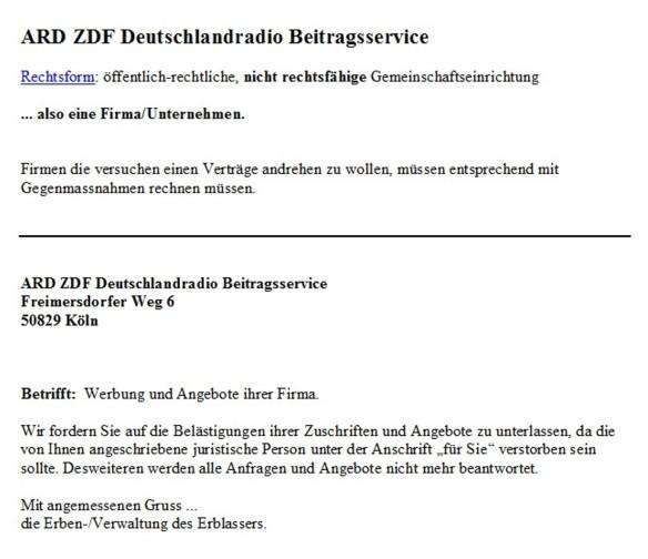Gez Ardzdf Deutschlandradio Beitragsservice F R E I E